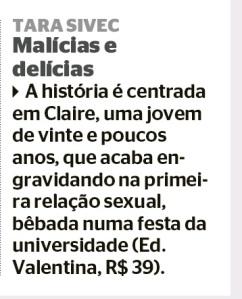 Jornal Extra Malicias e Delicias agosto 2015