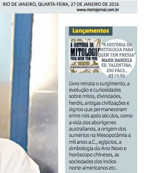 Jornal Metro RJ jan 2016