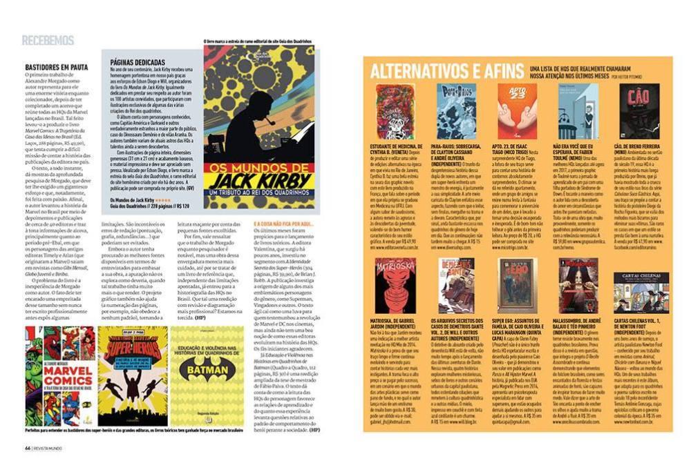 revista mundo dos superherois